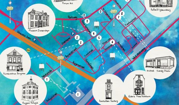 Op zaterdag 30 september zal voor de derde keer de Voorburgse Rondgang plaatsvinden in het Huygenskwartier (Annemieke Rodenburg Illustration).