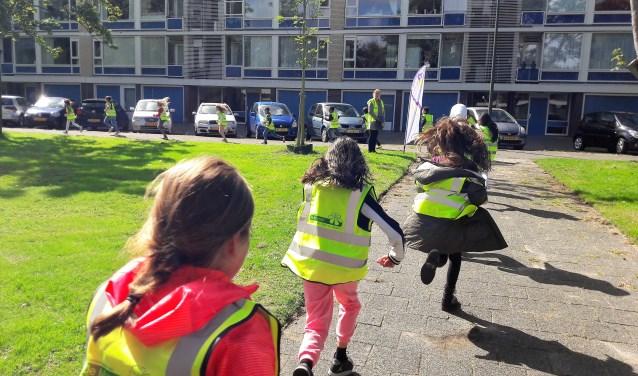 Tijdens de Nationale Sportweek heeft basisschool De Margriet meegedaan met The Daily Mile (foto: SenW).