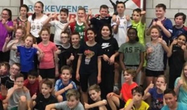 De kinderen van Het Palet hebben een circuit gedaan van verschillende atletiekonderdelen. Foto: pr