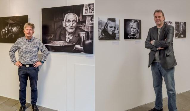 De expositie 'Doorleefde seconden' met onderwerpen van fotografen Michel Verhoef en Adrie Kweekel die uit het leven zijn gegrepen. Foto: Annelize van der Helm
