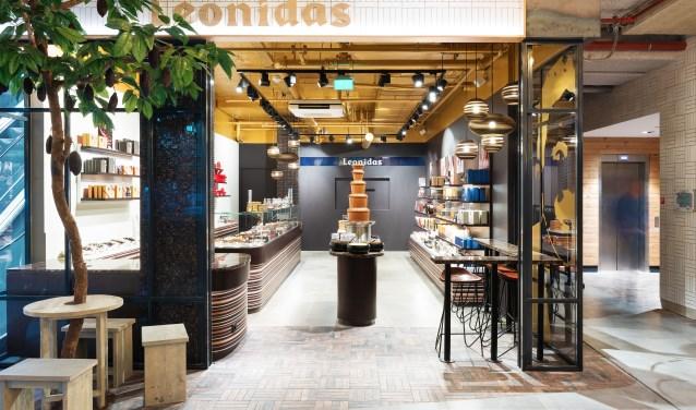 De nieuwe belevingswinkel is met 80 m² de grootste Leonidas speciaalzaak van Nederland (foto: pr).