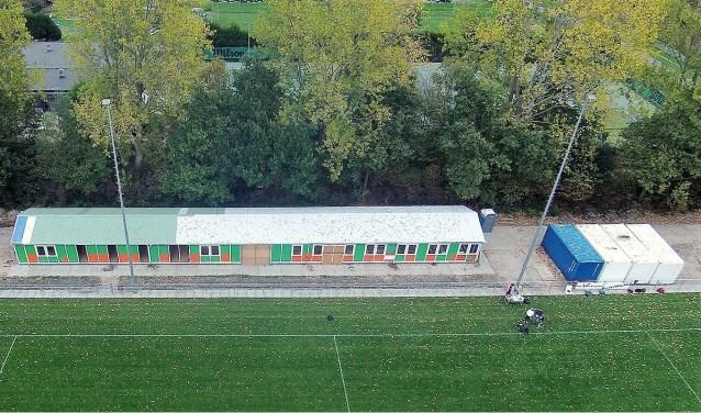 Het clubhuis van de Voorburgse Rugbyclub op Sportpark De Star in Leidschendam (foto: pr VRC).