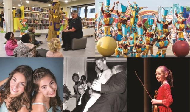 V.l.n.r. boven: Jas van Taal, Circo di Strada. V.l.n.r. beneden: Anuschka en Maria Pedano, The Young Ones en Zohra Jongerius. Foto: pr