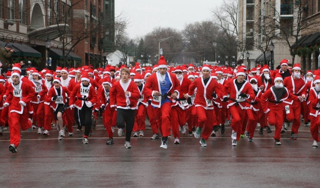 Start van de Santa Run elders (foto: Rotary Nederland).