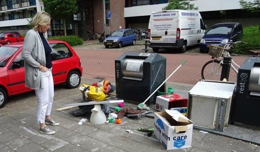 Met maatregelen per wijk hoopt wethouder Astrid van Eekelen dit soort taferelen in de toekomst te voorkomen. (Foto: Ap de Heus)