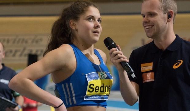 Zoë Sedney van Ilion prolongeert haar titel bij de Nederlandse Kampioenschappen Indoor Meerkamp. Foto: Bjorn Paree