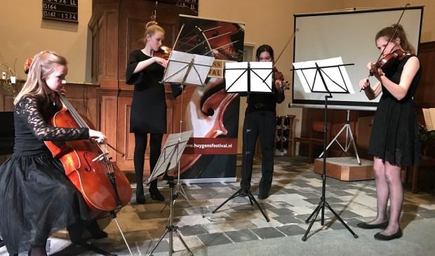 Het Hadriani Kwartet tijdens de Huygens Festival Amuse in de Franse Kerk. (Foto: PR)