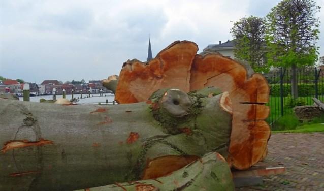 Hout staat zaterdag centraal in molen De Salamander (foto: Linda Steentjes).