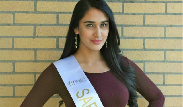 Safina Barsatie (24) gaat naar de internationale Miss Grand International-verkiezing in oktober in Myanmar (foto: pr).