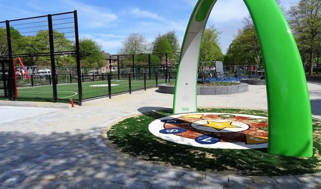 De nieuwe Krajicek Playground in hetCorbulopark aan de Van Lodensteijnstraat (naast school De Parachute) in Voorburg (foto: Ap de Heus).