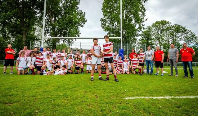 Het Nederlands Kampioenschap bij de Junioren Bowl is binnen voor de Voorburgse Rugbyclub (foto: pr VRC).
