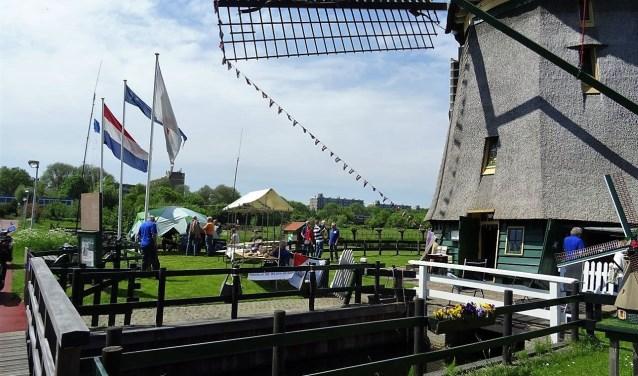 Ook bij museummolen De Vlieger was van alles te doen (foto: Ap de Heus).