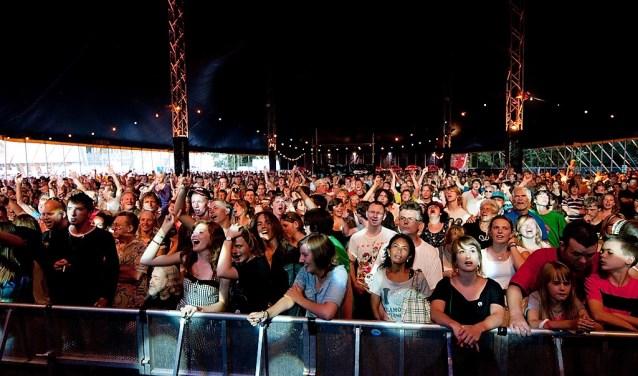Uitzinnig publiek tijdens Vlietpop (archieffoto Vlietpop).
