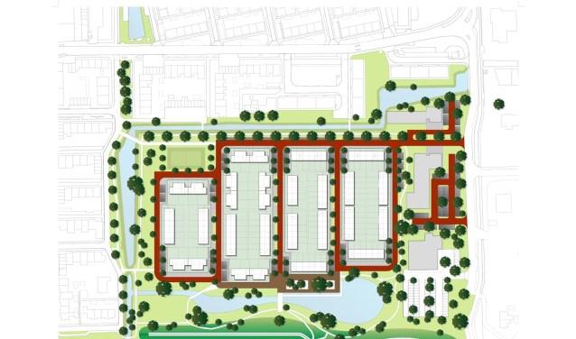 De nieuwe buurt Nutrihage komt op het braakliggende voormalig Numicoterrein en omringend groengebied, op de hoek Rokkeveenseweg en Jan Steenlaan. De locatie is sinds 2004 in beeld voor woningbouw. Foto: pr