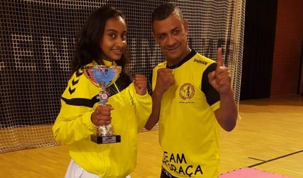Karate kampioen Iraisha Boedhoe van Da Graca. Foto: pr