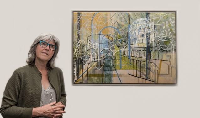 Het werk van Mariska Mallee gaat over haar droom: de duurzame stad. Foto: Annelize van der Helm