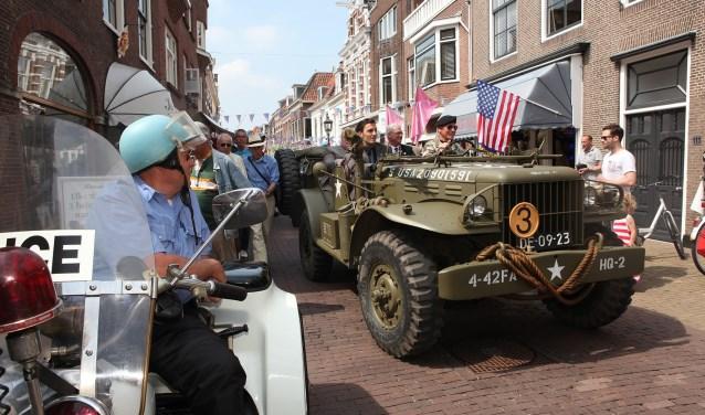 Amerikaanse dag in de Herenstraat in Voorburg (archieffoto: PR werkgroep Temecula/Paul Rüpp).