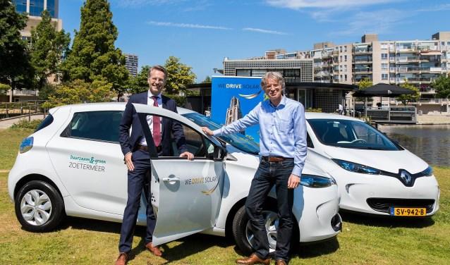 Gemeente Zoetermeer zet vier auto's op zonne-energie in. (Foto: gemeente)