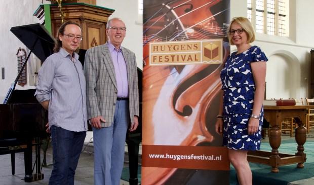 Louis Cosman met Hans de Raad en Annet Weijermars. (Foto: Huygens Festival)