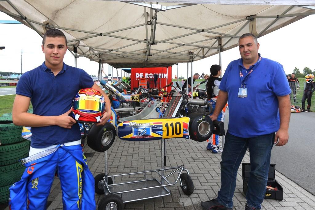 Karter Ryan Kavezadeh uit Zoetermeer werd derde in de Junioren-klasse op de vierde ronde van het GK4-kampioenschap. Foto: Bas Kaligis  © Postiljon