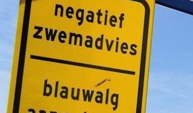 Vandaag werd bekend dat er een negatief zwemadvies geldt voor de zwemlocatie Vlietland Badstrand Noordoostoever (archieffoto Ap de Heus).