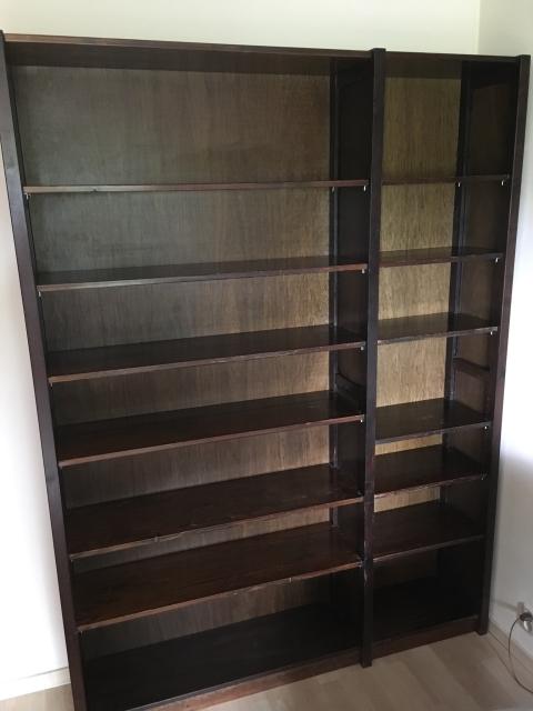 degelijke lundia boekenkast donker bruin h 228m b 155m d 30 cm voor info svp mailen