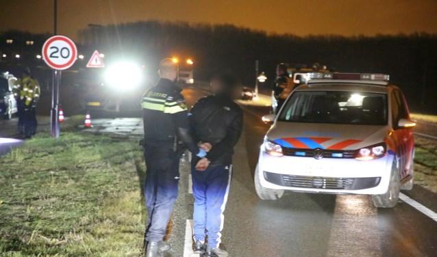 Aan de aanhouding ging een achtervolging vooraf, die eindigde met een crash. Foto: Spa-Media