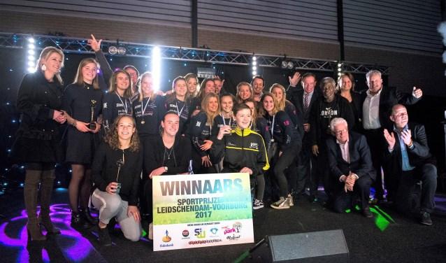De winnaars van de sportprijzen van 2017 (foto: Michel Groen).