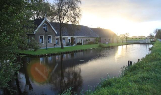 Een van de boerderijen die wel is blijven staan, de boerderij van de familie Janssen aan de Laakweg.