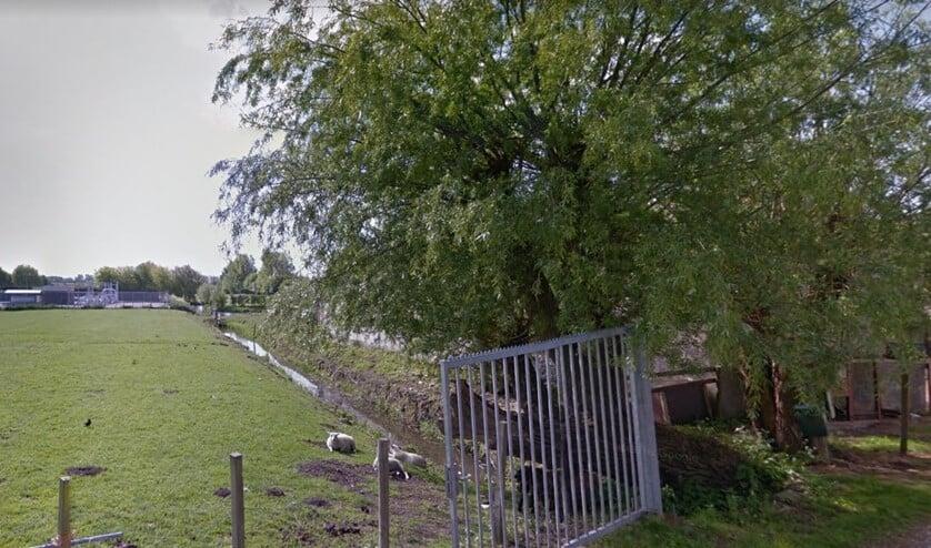 In de Vlietzone, Virulylaan 50, moeten gebouwd gaan worden (Foto: Google Streetview).