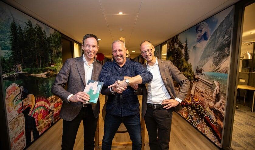 Robbert van Adrichem, Remco Claassen (managementgoeroe) en Stephan Persoon. (foto: Alexander Mul.)
