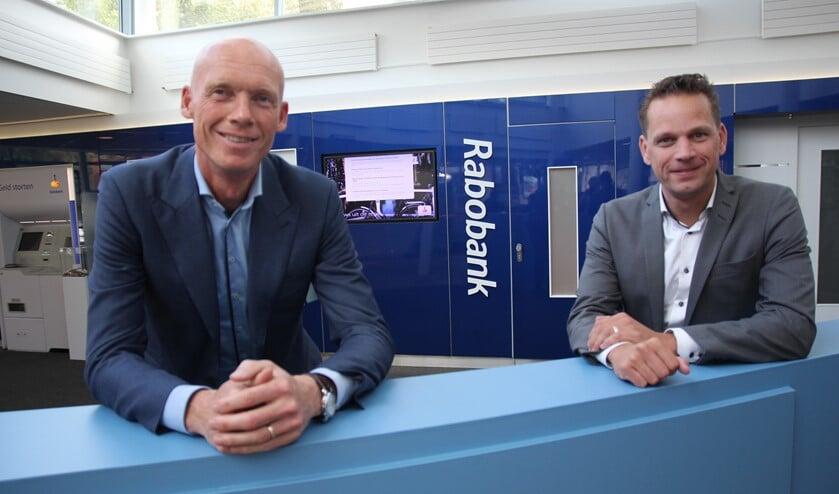 Fabian van der Horst en Sander Vroom zijn er trots op dat de Rabobank als enig bedrijf al meer dan tien jaar direct betrokken is bij de organisatie van de Oostlanddag.