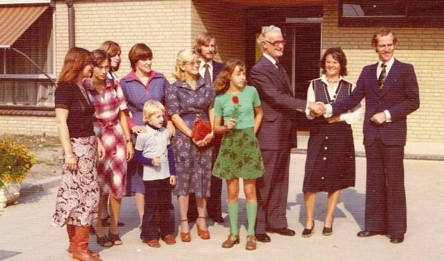 Opening van de Christinaschool aan De Tol in Leidschendam op 22 september 1976 (archieffoto Henk van der Giessen).
