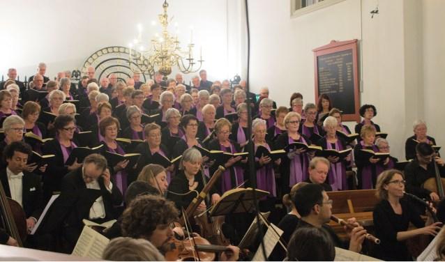 De uitvoering van de Matthäus Passion van Telemann door het Zoetermeerse koor Cantate Deo. Foto: pr
