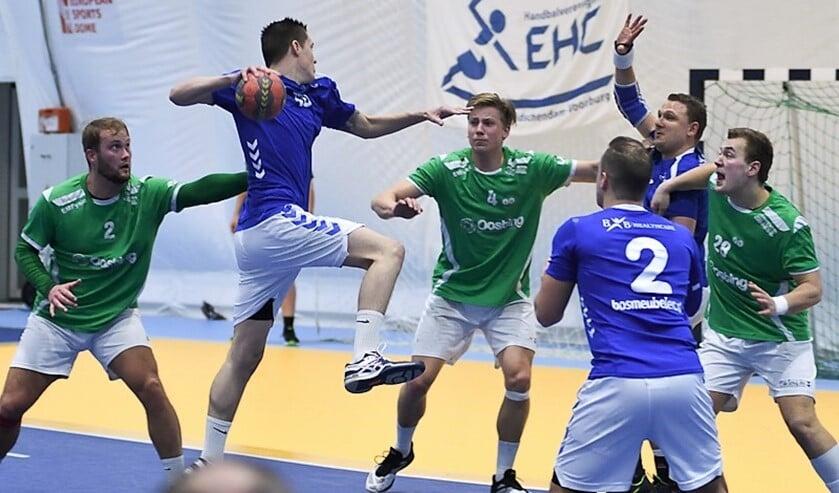 Het samenspel was sowieso tijdens de eerste helft prima verzorgd en EHC wist afstand te nemen (foto: pr EHC).