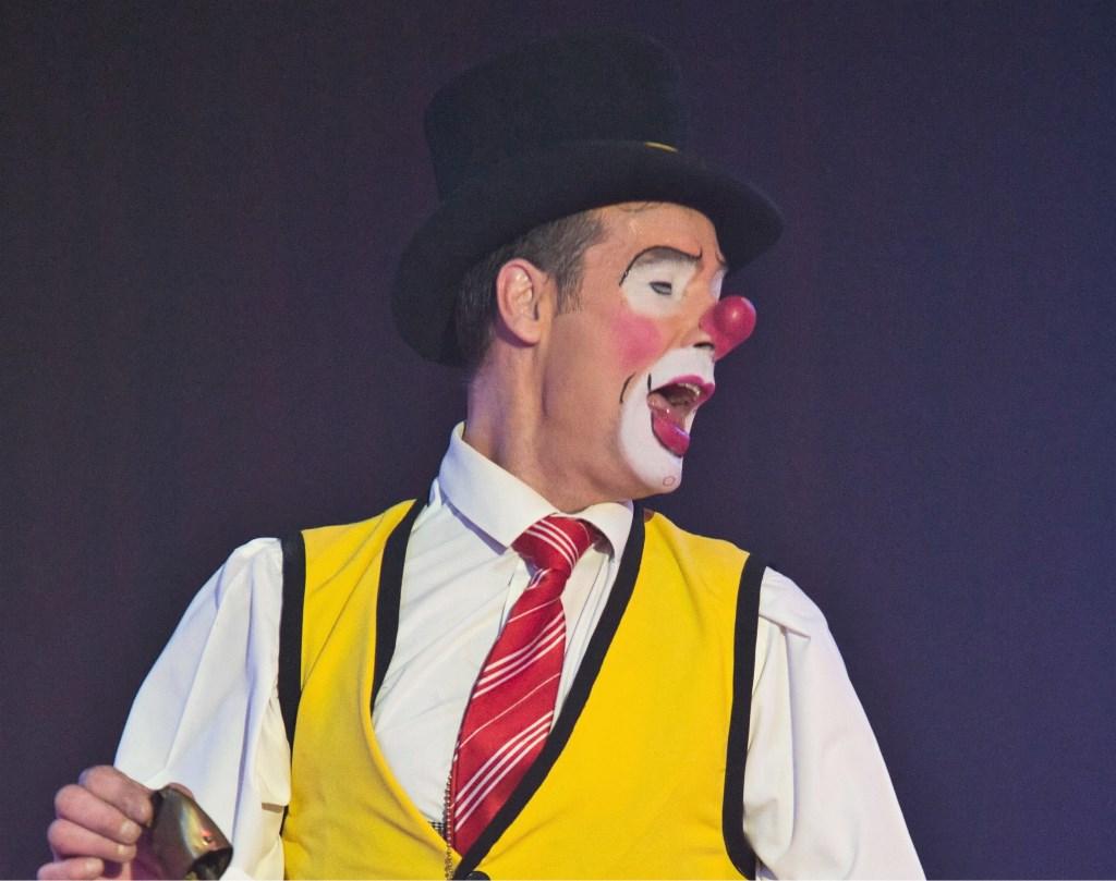 Clown Marco Mariani (foto's: Persdienst Circus Maximum).  © Het Krantje