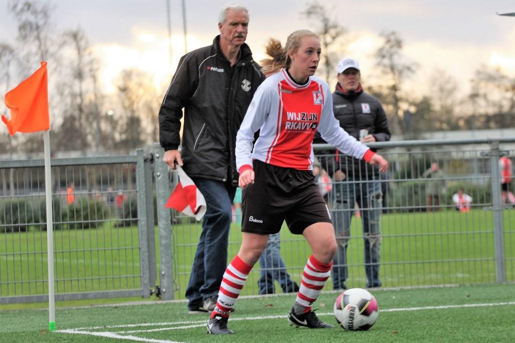 Romy v.d. Helm (RKAVV Vrouwen) scoorde vorige week 2x en zaterdag 3x (archieffoto: AW).  © Het Krantje
