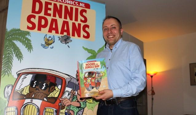 Dennis Spaans is begonnen met de promotie van zijn stripalbum (tekst/foto: Dick Janssen).