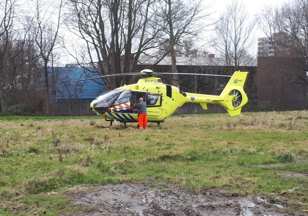 De traumahelikopter was ook ter plaatse. Foto: Spa-Media  © Postiljon