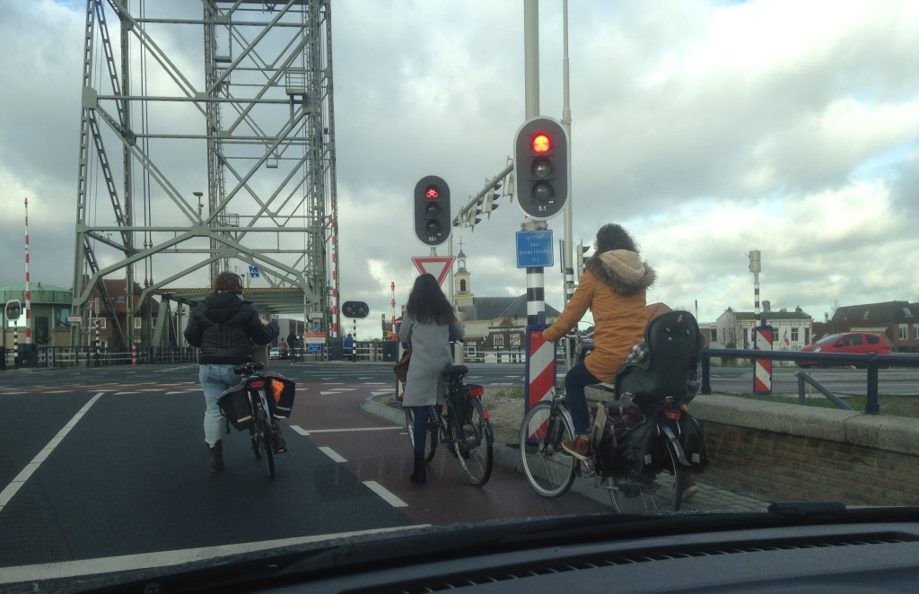 Beide stoplichten op rood.  © Postiljon