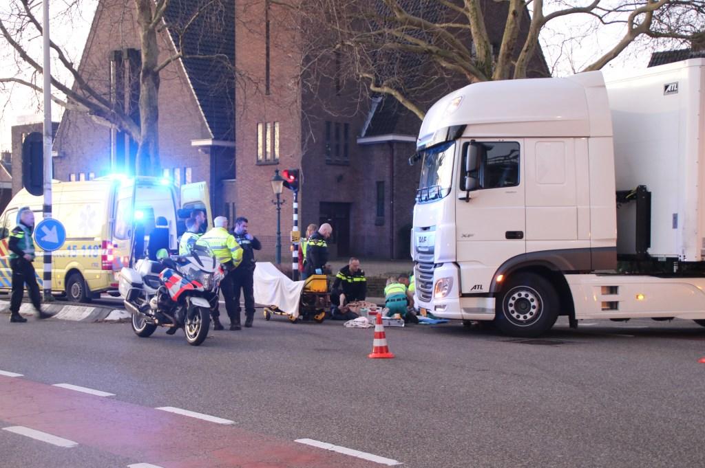 Het ongeluk op de Karel Doormanlaan, op woensdag 27 februari 2019. Foto: Spa-Media  © Postiljon