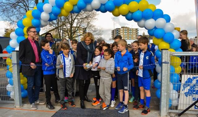 Phoenix en de gemeente Zoetermeer mogen trots zijn op deze korfbalaccommodatie. Foto: pr