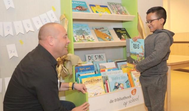 Op donderdag 4 april is in Zoetermeer de 28e Bibliotheek op School geopend: op Kentalis. Foto: Jan van Es