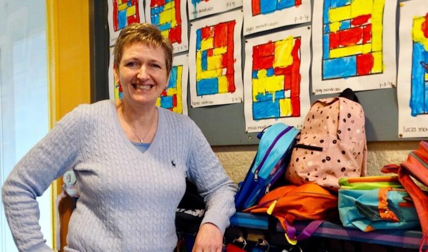 Astrid juicht het toe dat de overblijfkinderen minstens een keer per week iets creatiefs mogen doen.