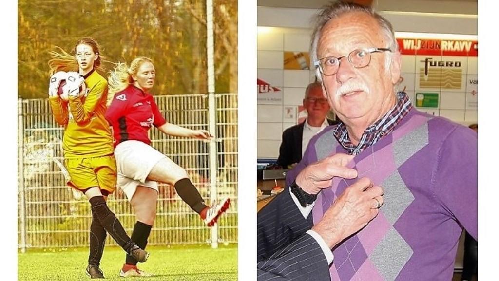 Dominique v.d. Meulen (RKAVV Vrouwen) debuteerde & Hans Slootmaker kreeg KNVB Gouden Speld (foto's: AW).  © Het Krantje