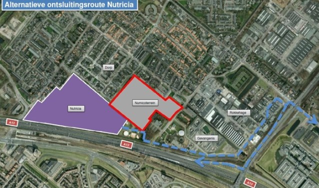 De alternatieve ontsluitingsroute Nutricia. Foto via: www.zoetermeer.nl