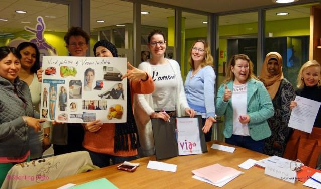 De workshops zijn speciaal voor vrouwen die graag aan de slag willen. Foto: Henk Leentfaar
