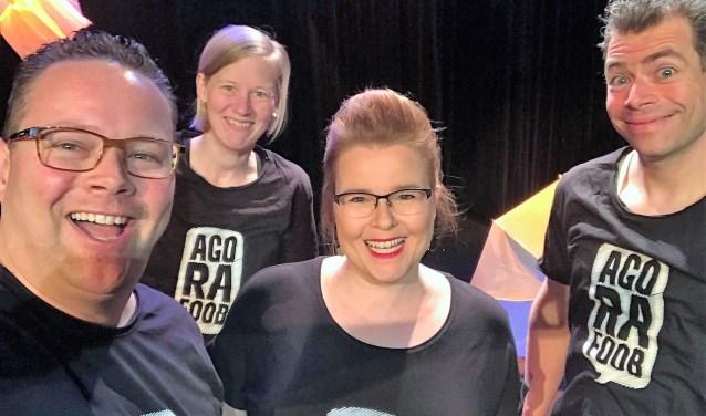 Marjolijn en haar crew droegen het shirt met daarop haar angststoornis. (foto: pr).