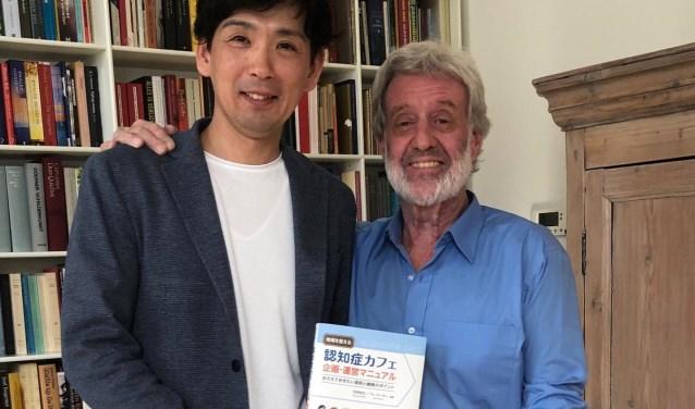 Bère met zijn Japanse samenwerkingspartner Tomoyuki Yabuki.