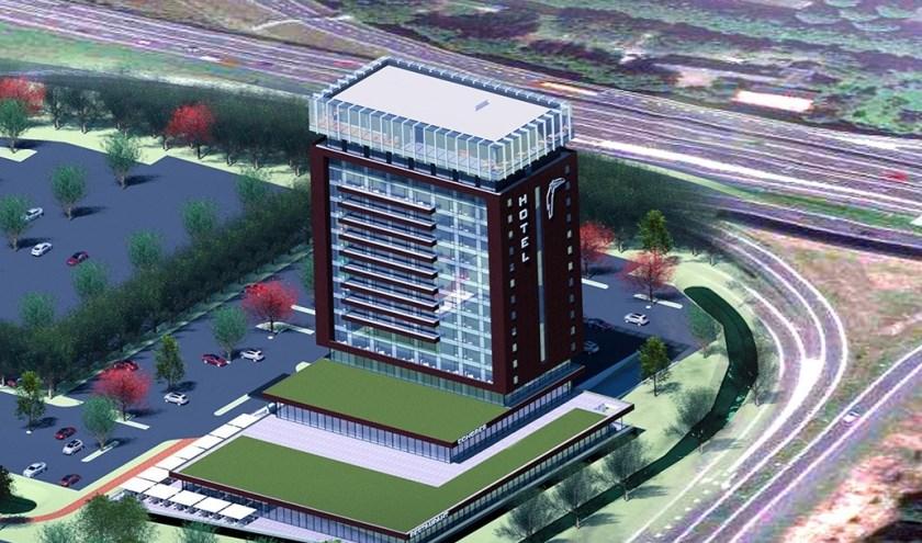 Zoetermeer krijgt een Van der Valk hotel. Op de illustratie afgebeeld een nieuw Valk Exclusief hotel, dat in Schiedam gebouwd gaat worden. Foto: www.valkexclusief.nl/